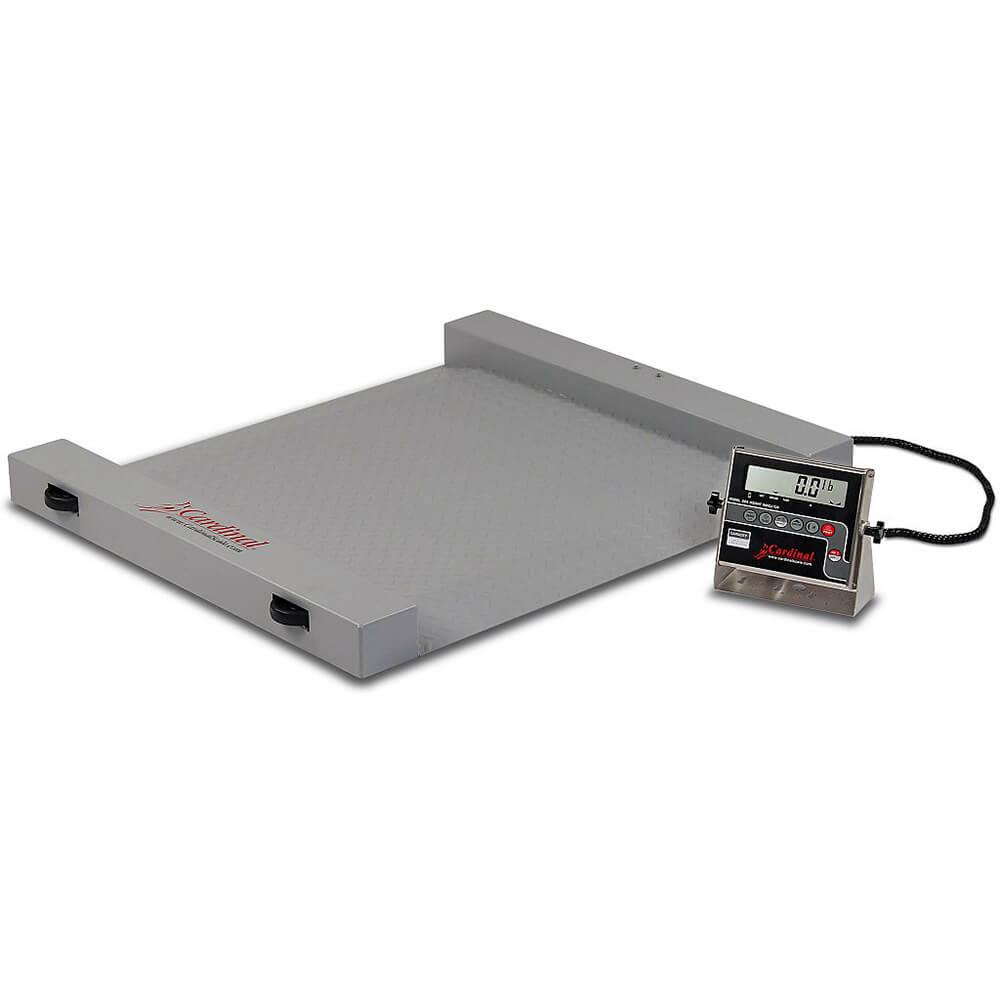Cardinal portable steel floor scale digital 1 000 lb for 1000 lb floor scale