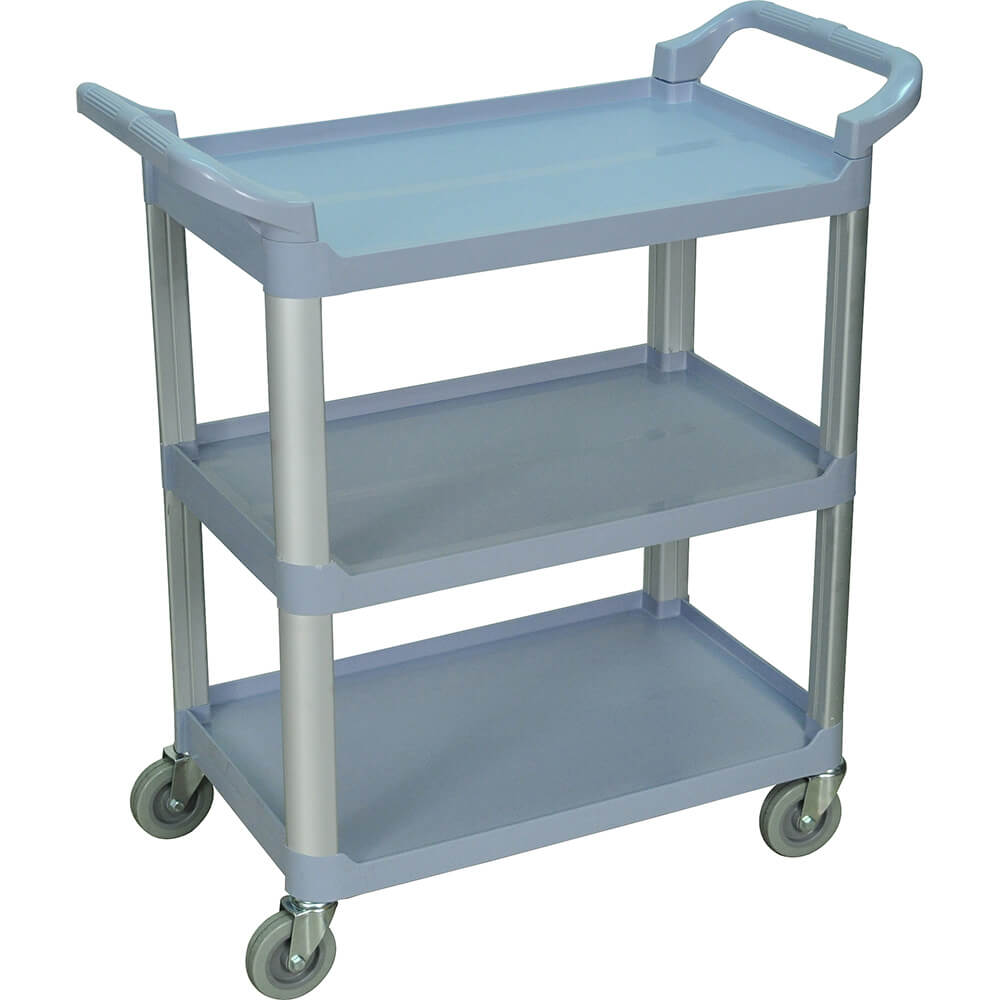 Gray, Utility / Service Cart, Light Duty, 200 Lbs. Capacity