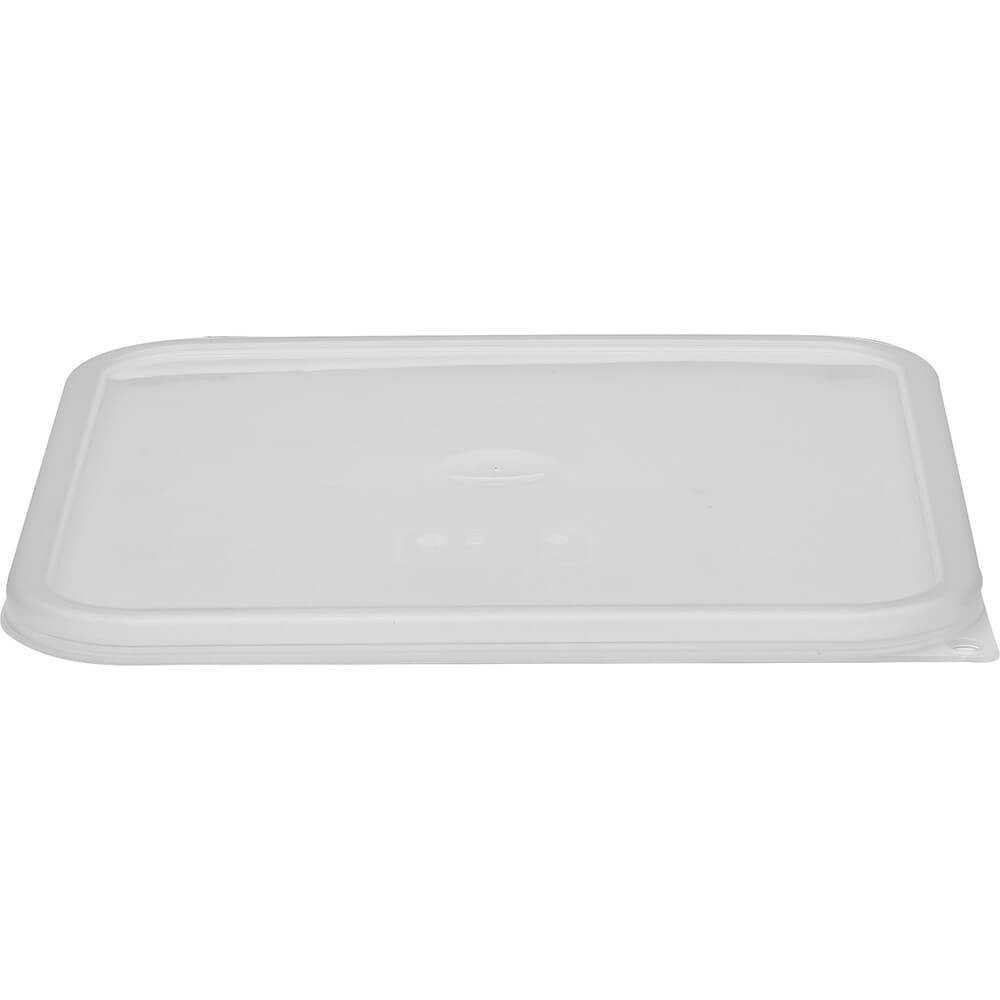 Translucent, 12, 18 and 22 qt. Large Spill Resistant Lid for Polycarbonate Containers, 6/PK