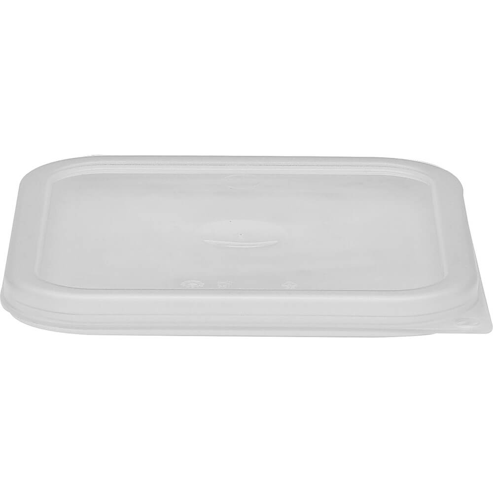 Translucent, 2 and 4 qt. Small Spill Resistant Lid for Polycarbonate Containers, 6/PK