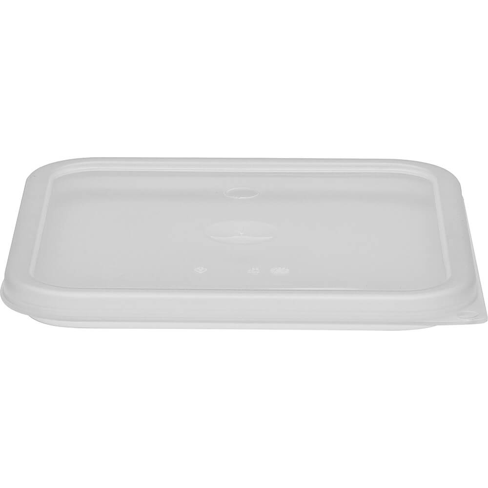 Translucent, 6 and 8 qt. Medium Spill Resistant Lid for Polycarbonate Containers, 6/PK