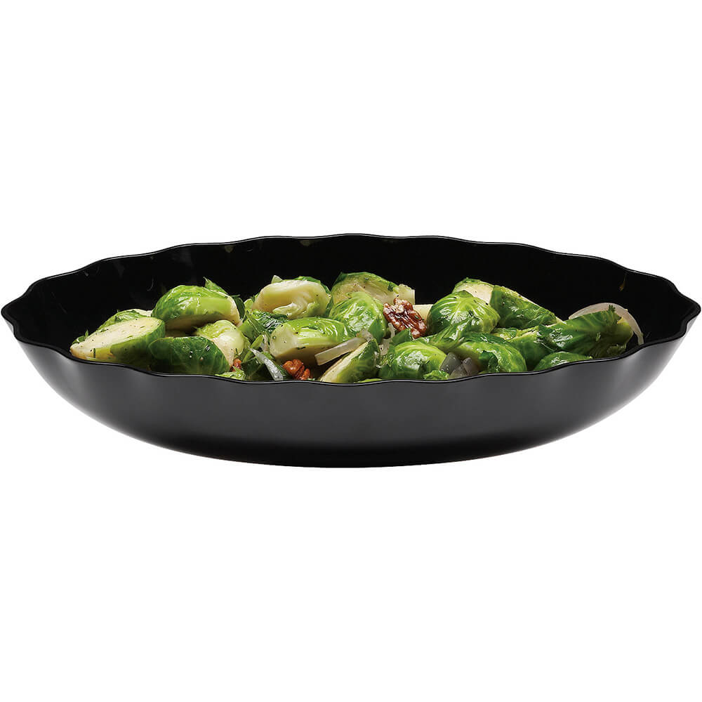 "Black, 10"" X 15"" Display Bowls, Scalloped Oval, 6/PK"