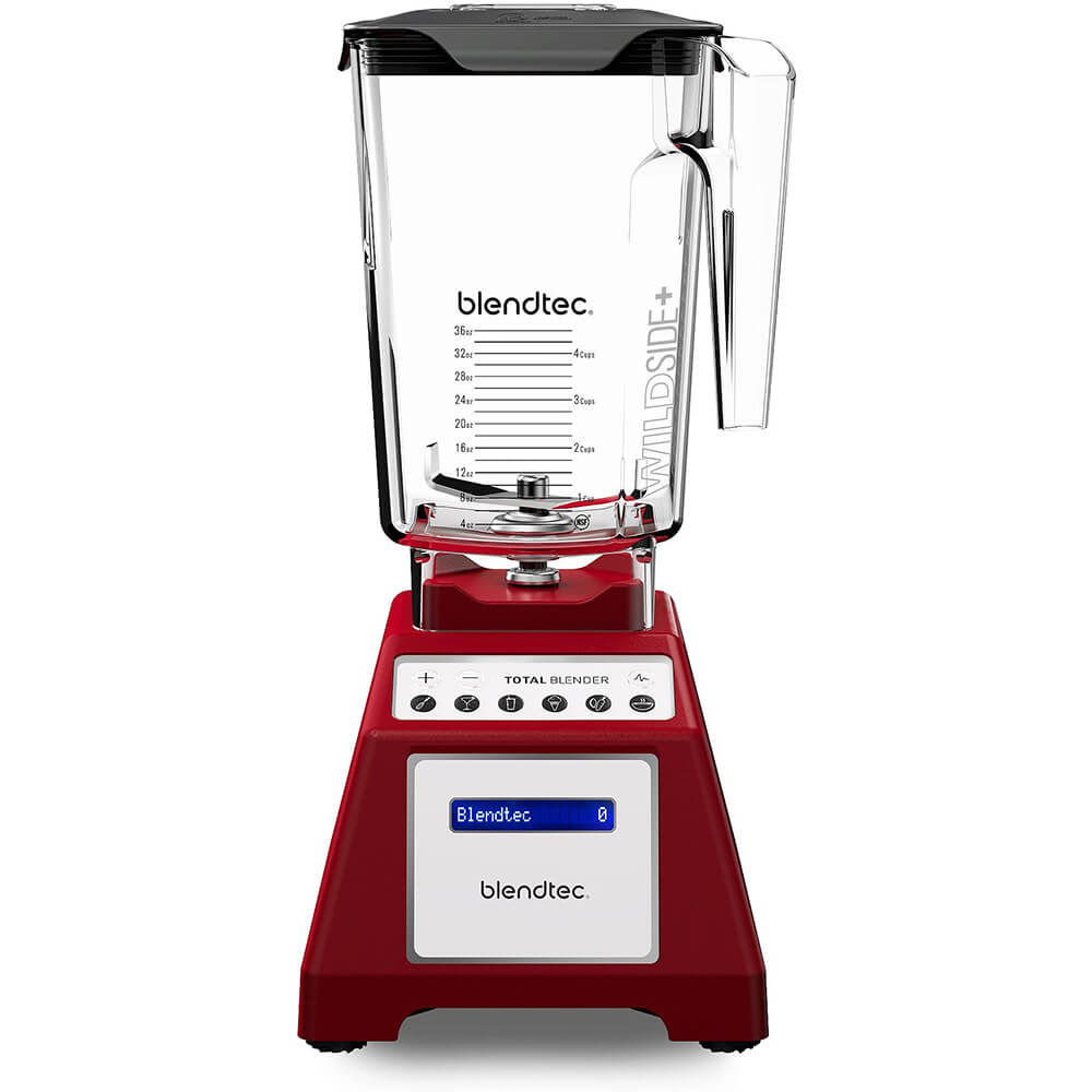 Red, Total Blender Classic with Wildside+ Jar, Factory Re-Certified