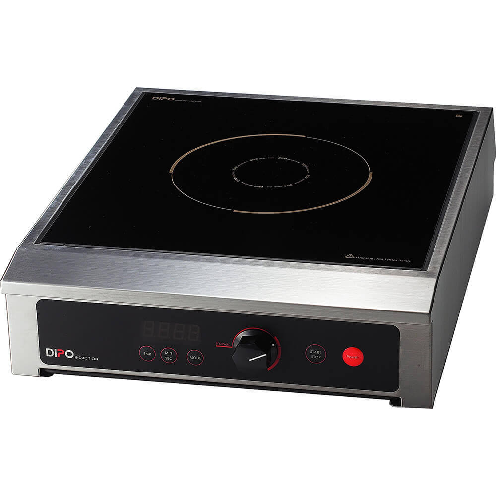 Stainless Steel, 3500W Portable Induction Cooktop, External Temperature Probe