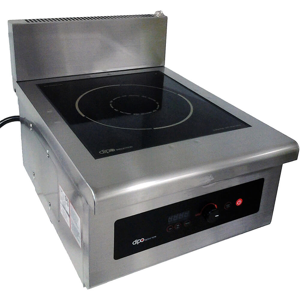 Stainless Steel, 10,000W Counter-top Induction Cooktop, External Temperature Probe