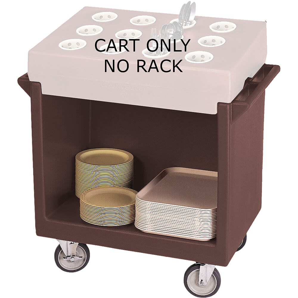 Dark Brown, Tray and Dish Cart, Cart Only