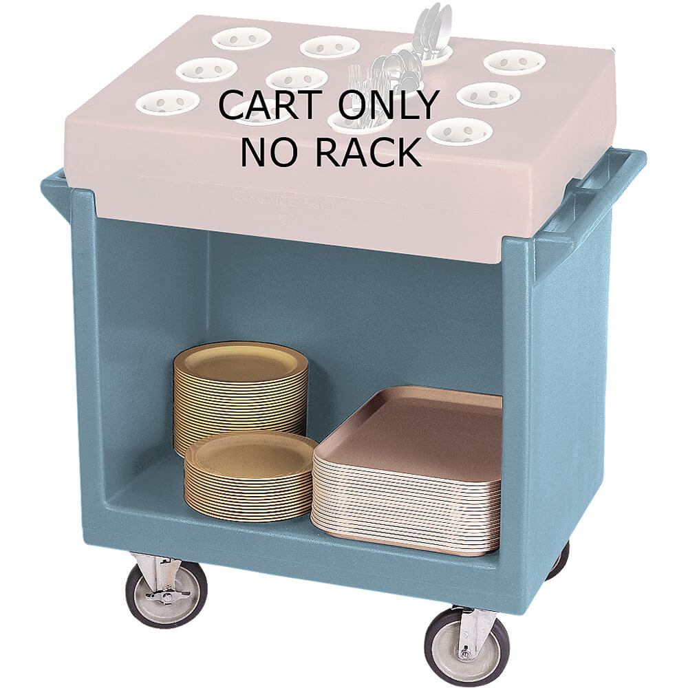 Slate Blue, Tray and Dish Cart, Cart Only