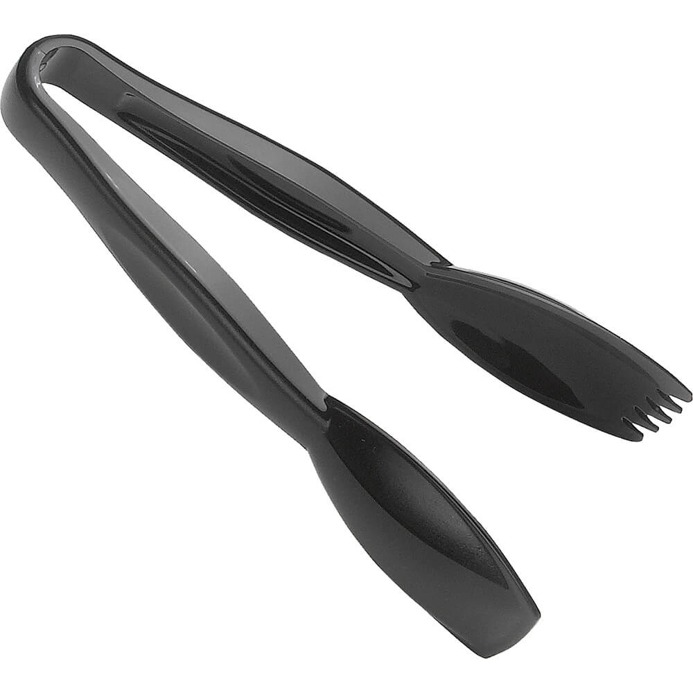 "Black, 6"" Easy-Grasp Lugano Salad Tongs, 12/PK"