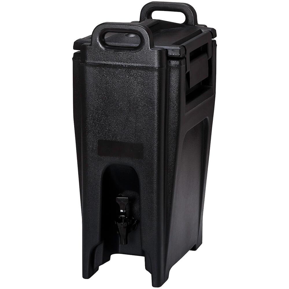 Black, 5.25 Gal. Insulated Beverage Dispenser, Ultra Camtainer