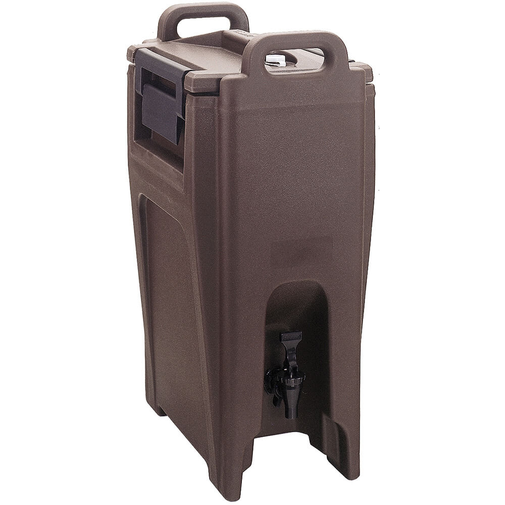 Dark Brown, 5.25 Gal. Insulated Beverage Dispenser, Ultra Camtainer