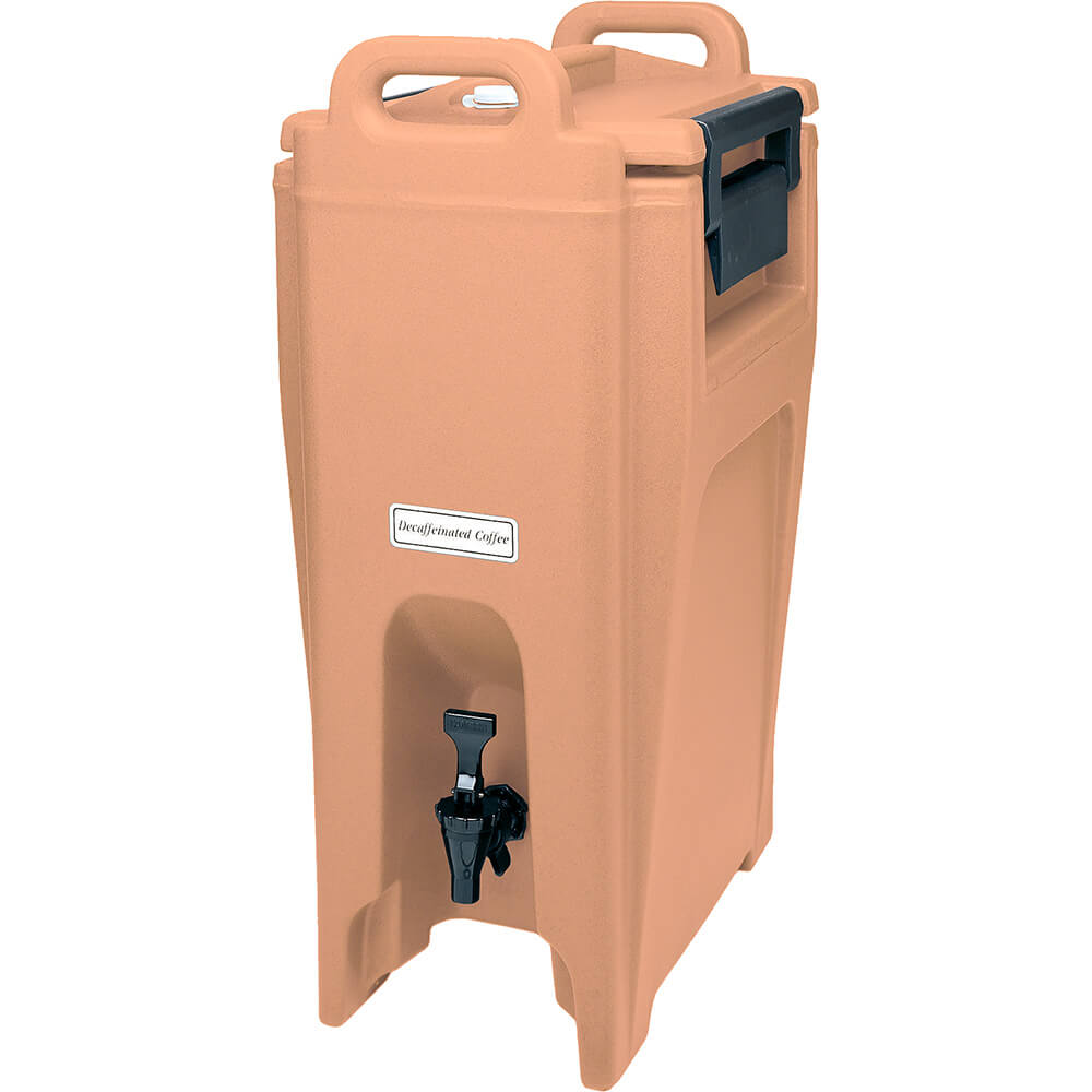 Coffee Beige, 5.25 Gal. Insulated Beverage Dispenser, Ultra Camtainer
