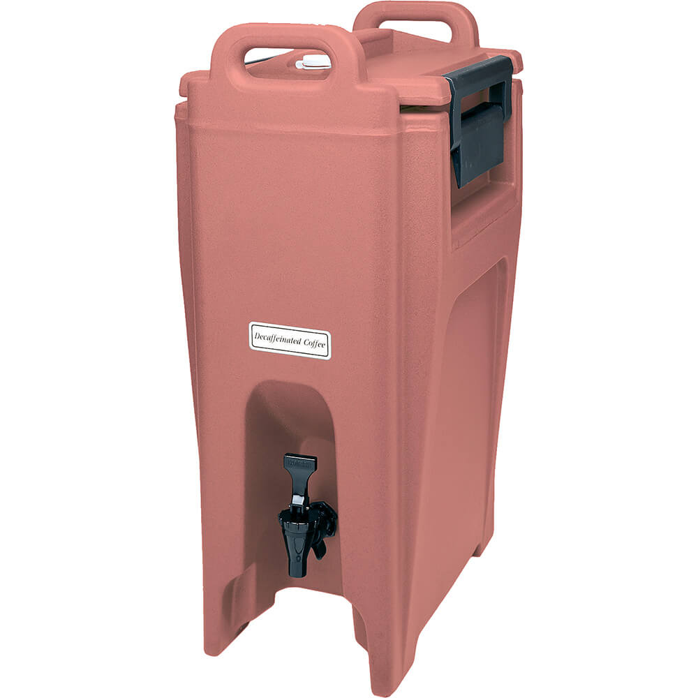 Brick Red, 5.25 Gal. Insulated Beverage Dispenser, Ultra Camtainer