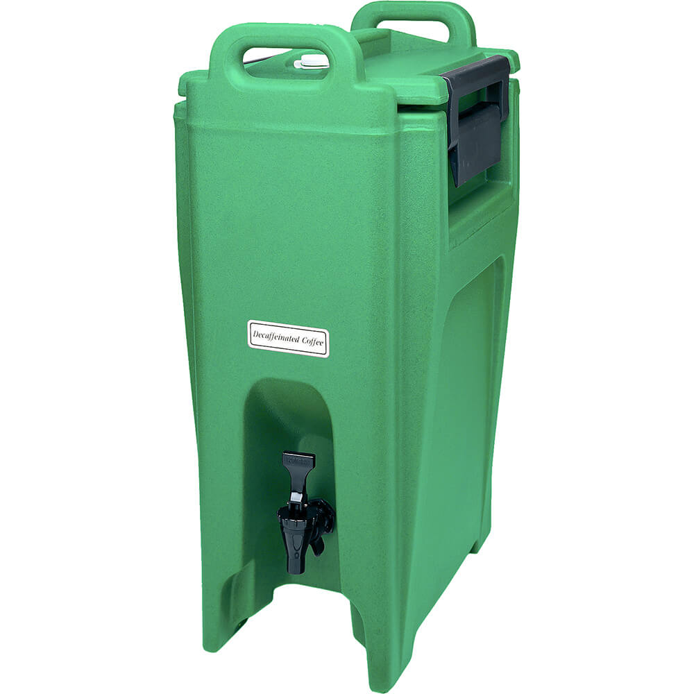 Green, 5.25 Gal. Insulated Beverage Dispenser, Ultra Camtainer