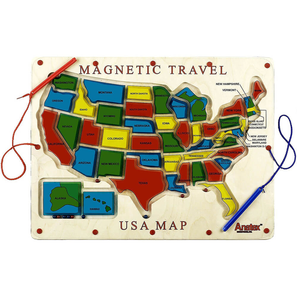 Magnetic Travel USA Map Game