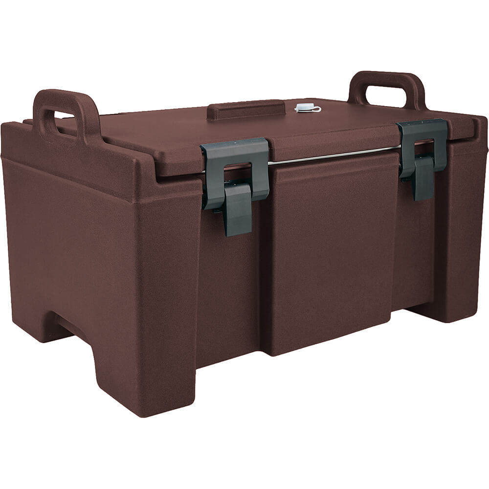 Dark Brown, Insulated Food Carrier, Bulk Food Storage, Molded Handles
