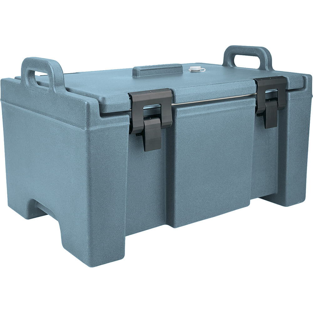 Slate Blue, Insulated Food Carrier, Bulk Food Storage, Molded Handles