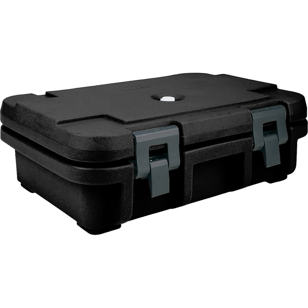 "Black, Insulated Food Carrier for 4"" Deep Pans"