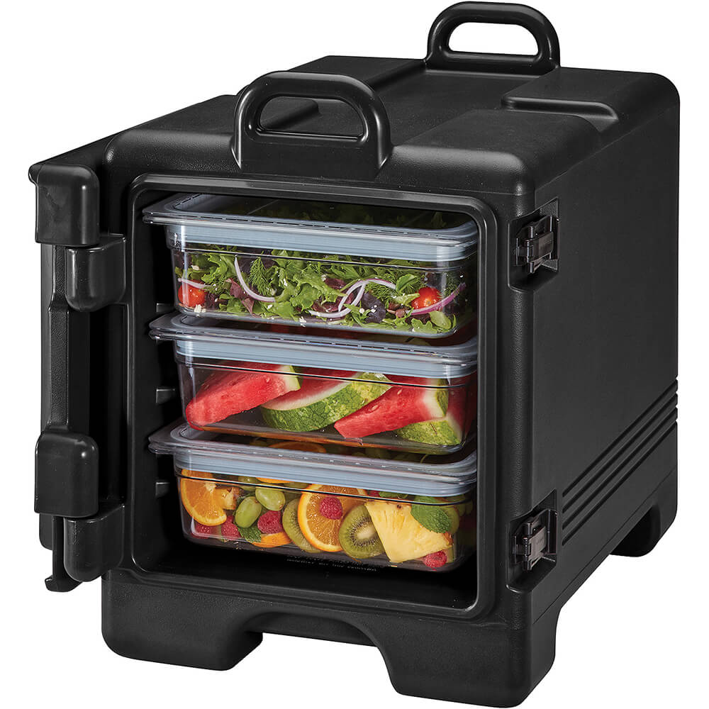 Black, Insulated Front Loading Food Carrier, Full Size Pans View 2