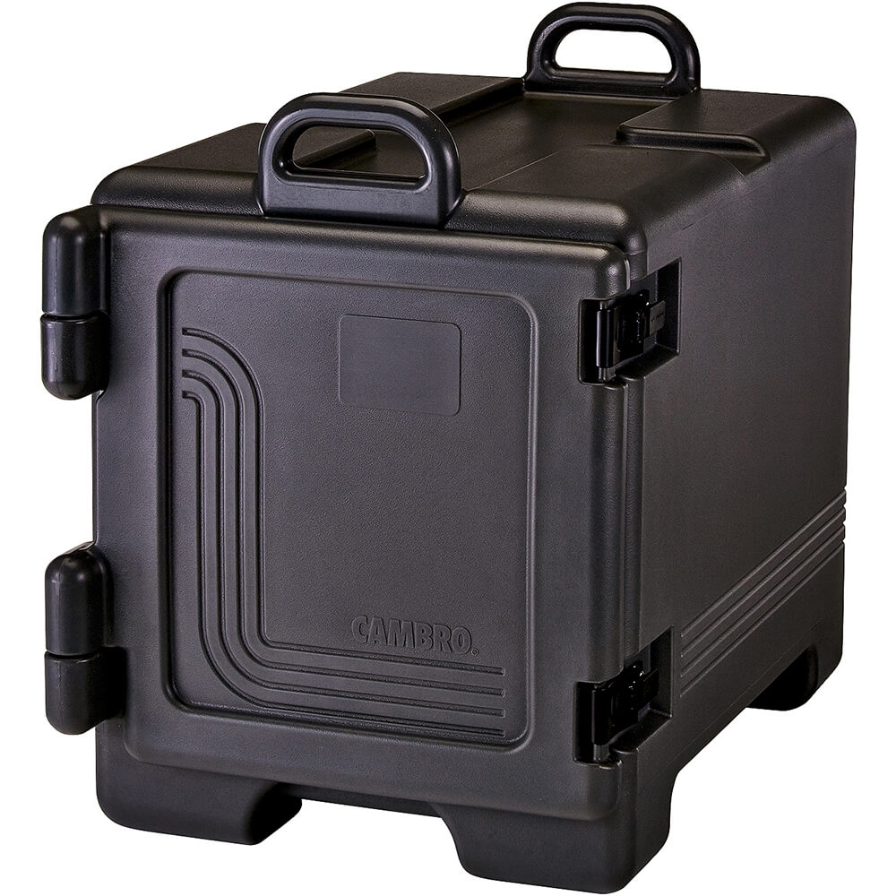 Black, Insulated Front Loading Food Carrier, Full Size Pans