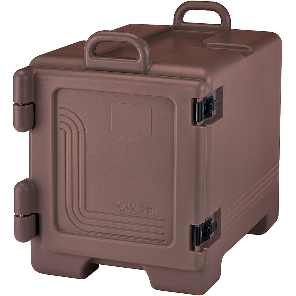Dark Brown, Insulated Front Loading Food Carrier, Full Size Pans