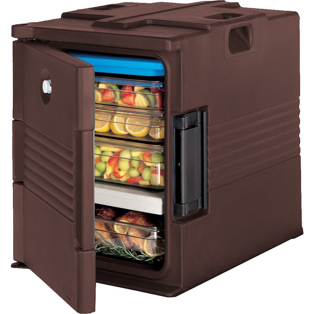 Dark Brown, Ultra Insulated Food Carrier, No Casters