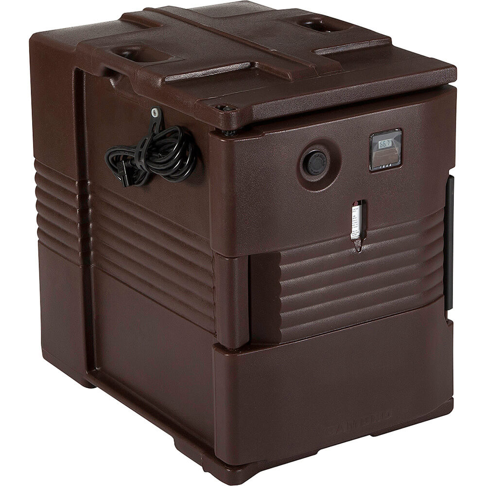 Dark Brown, H-Series Electric Hot Box, Food Carrier, 110V