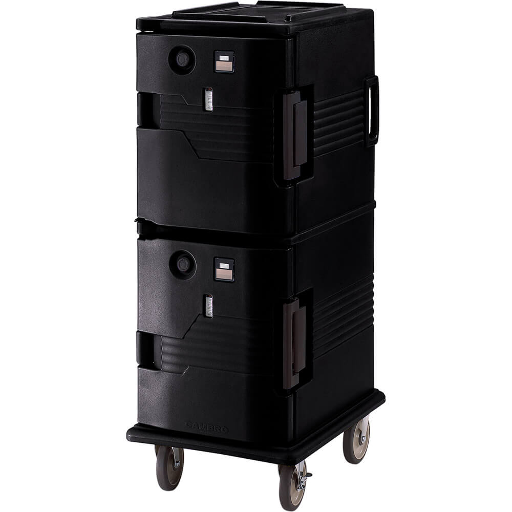 Black, H-Series 2-Compartment Electric Hot Box, 110V View 2