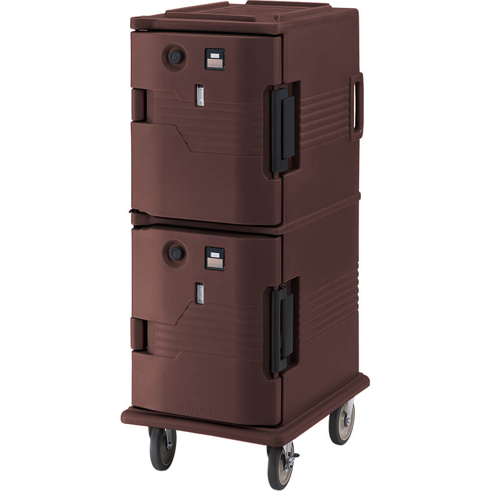 Dark Brown, H-Series 2-Compartment Electric Hot Box, 110V View 2