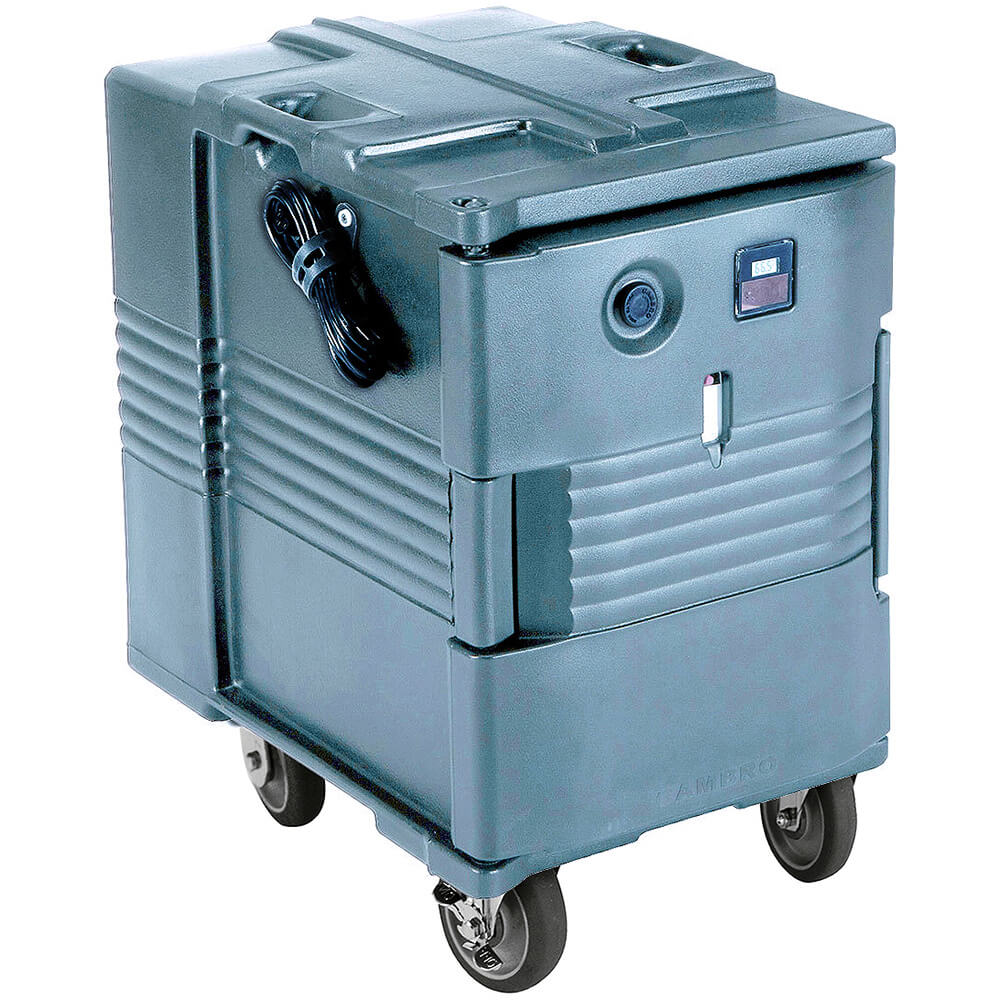 Slate Blue, Electric Hot Box, Food Carrier W/ Casters,110V