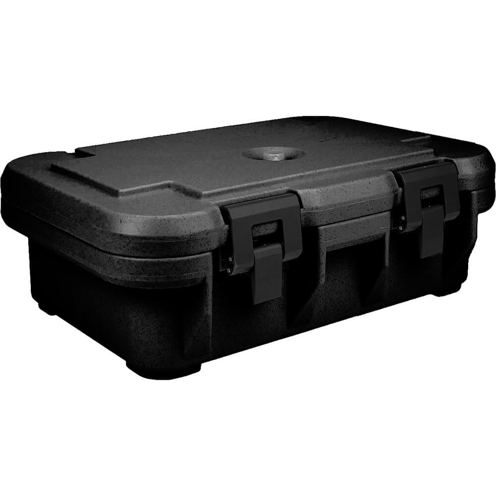 "Black, Insulated Food Carrier for 4"" Deep Pans, S-Series"