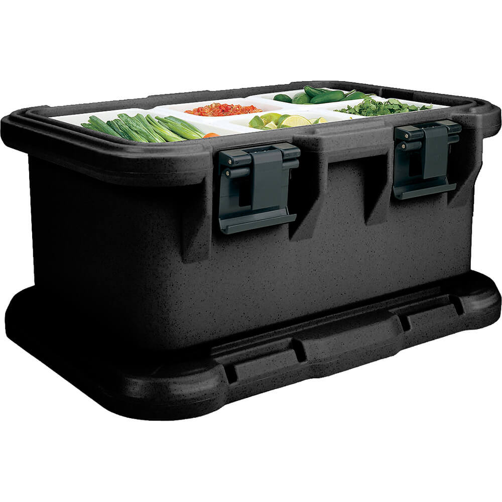 "Black, Insulated Food Carrier for 6"" Deep Pans, S-Series"