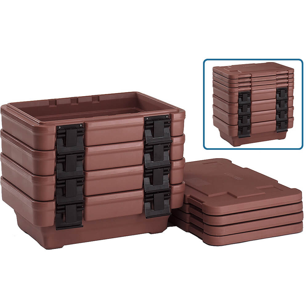"Dark Brown, Ultra Food Carrier S-Series, Stack-and-Store for 6"" Deep Pans View 2"