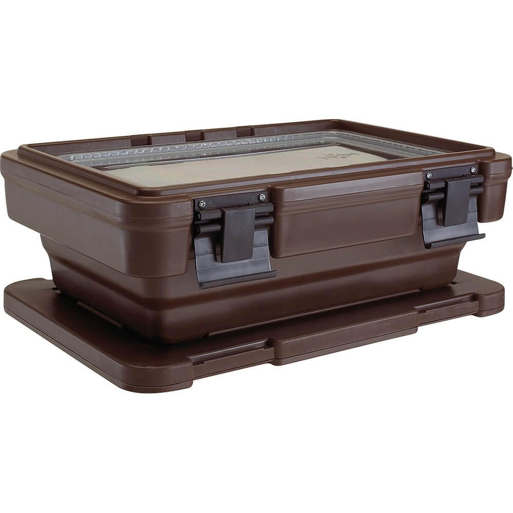 "Dark Brown, Ultra Food Carrier S-Series, Stack-and-Store for 6"" Deep Pans"