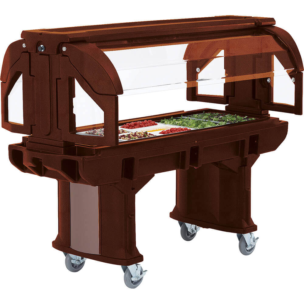 Bronze, 6 Ft. Portable Food / Salad Bar with Casters