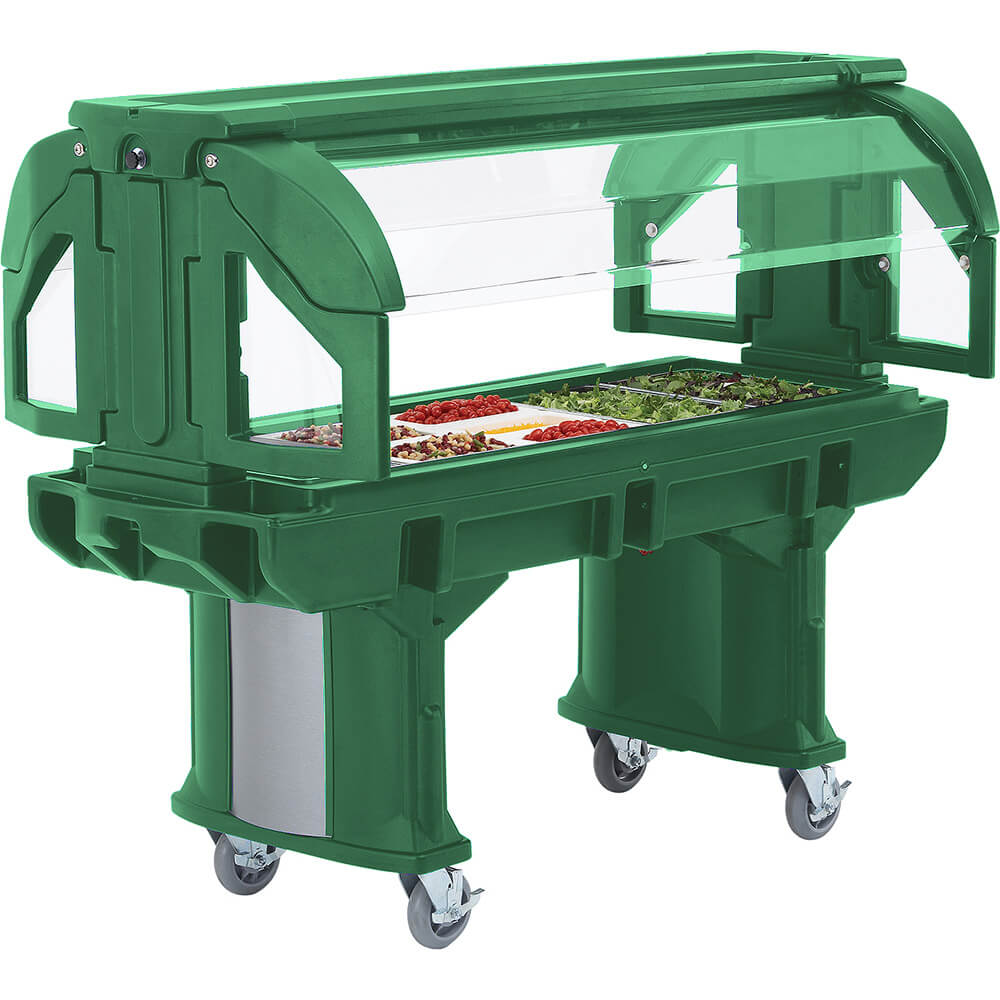 Green, 6 Ft. Portable Food / Salad Bar with Casters