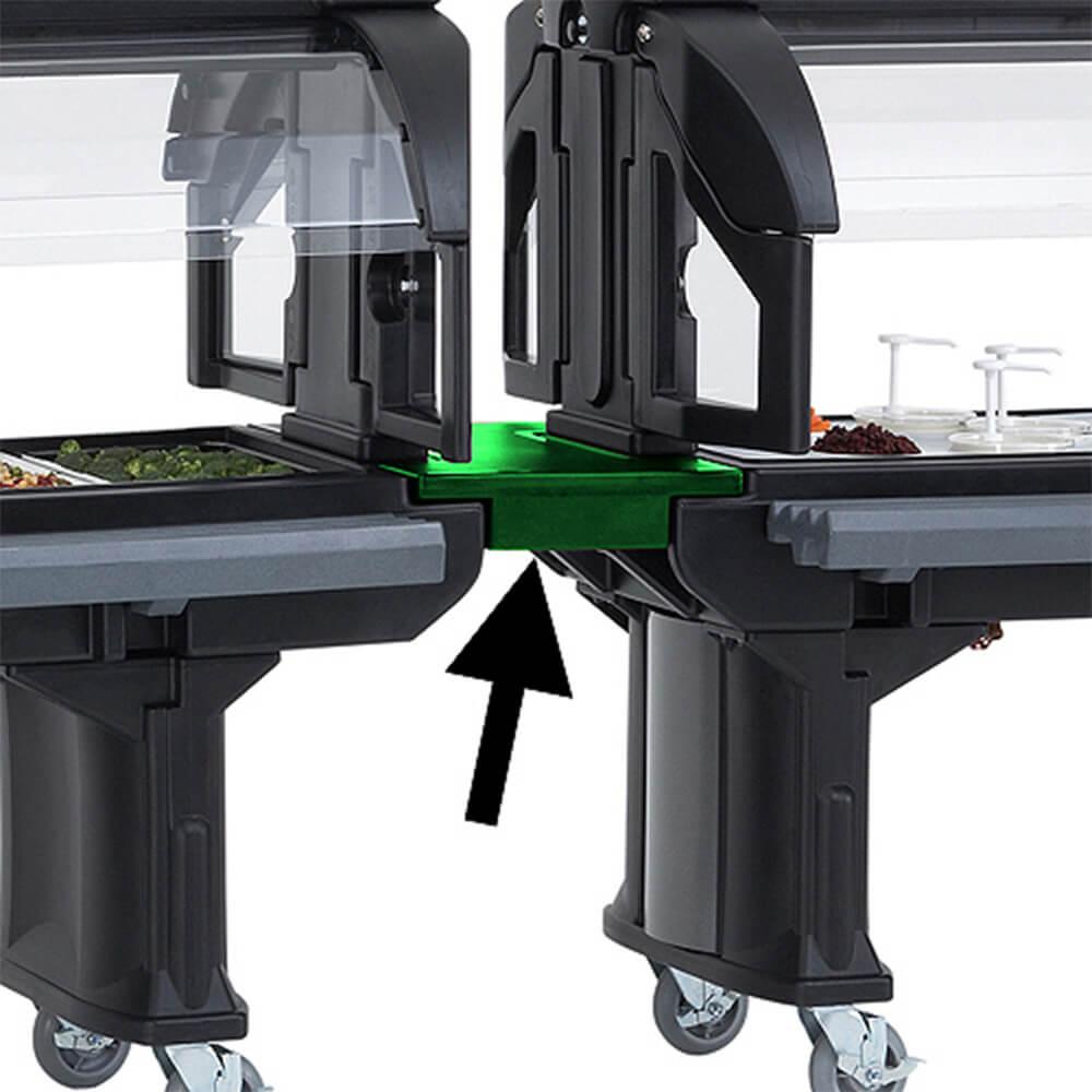 Green, Straight Food Bar Connector - Bar to Bar
