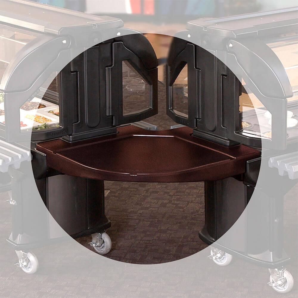 Bronze, Corner Food Bar Connector - Bar to Bar