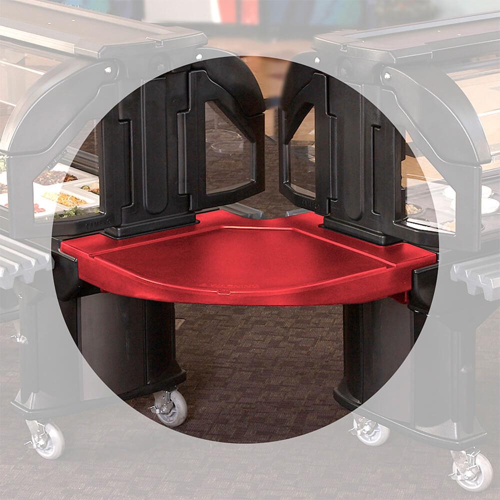 Hot Red, Corner Food Bar Connector - Bar to Bar