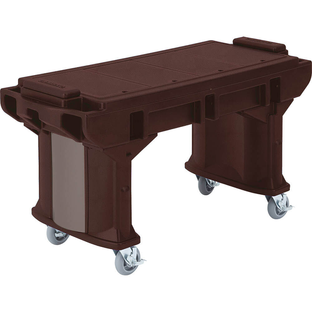 Bronze, 6 Ft. ADA Height Work / Prep Table W/ Heavy Duty Casters