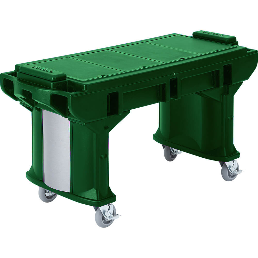 Green, 6 Ft. ADA Height Work / Prep Table with Casters