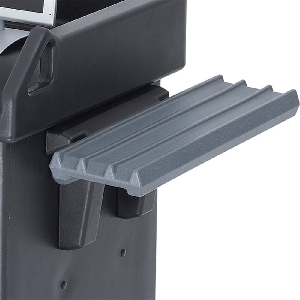 Granite Gray, Tray Rail for Cash Register Stands