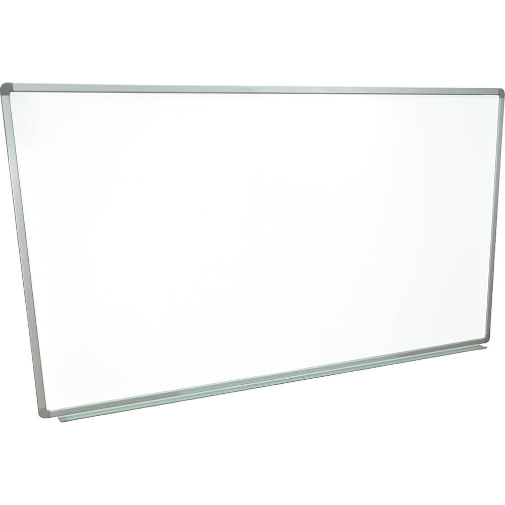 "Silver Frame, Dry Erase Whiteboard 72"" X 40"", Magnetic, Wall Mounted"