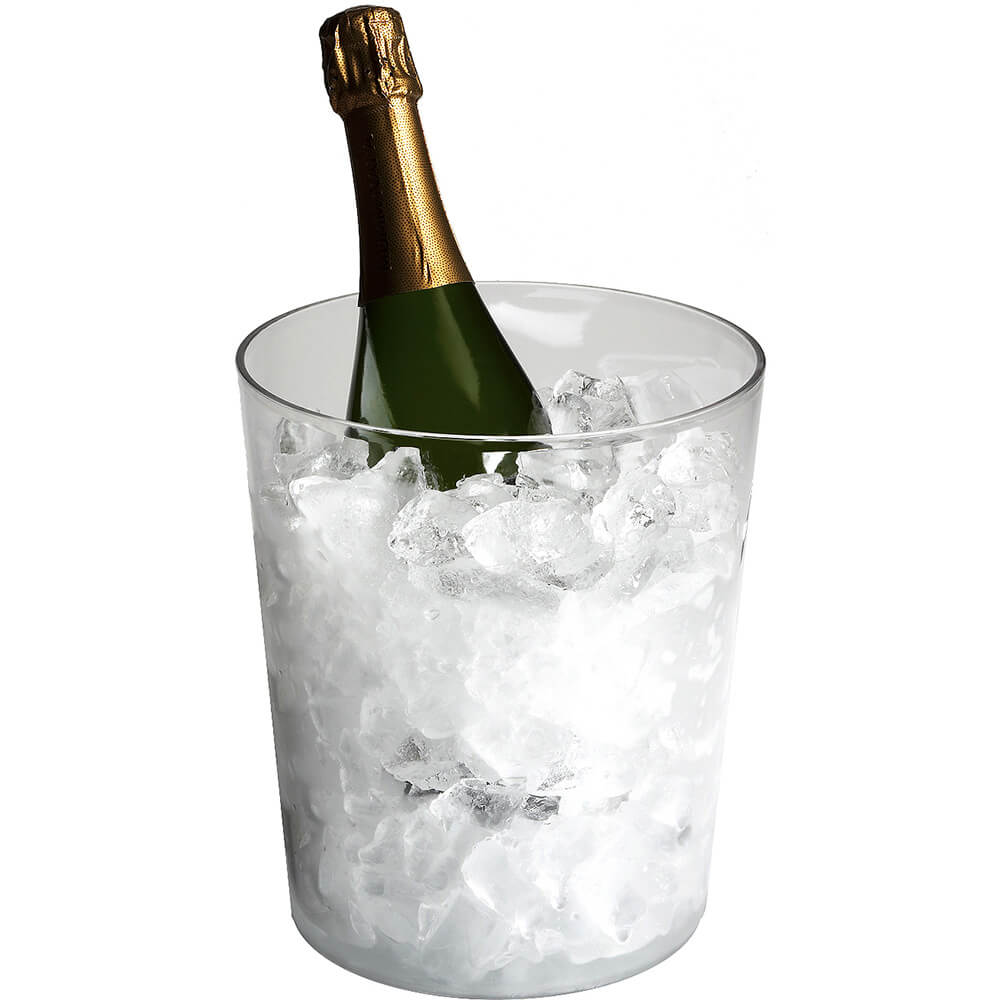 Clear, Polycarbonate Ice Bucket, No Handles