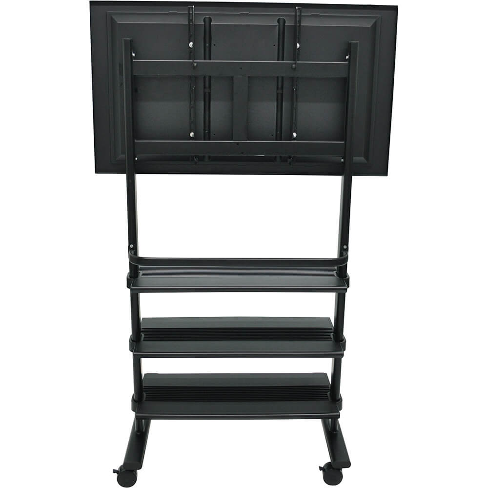 Black, Universal LCD/Flat Panel TV Cart With 3 Shelves View 4