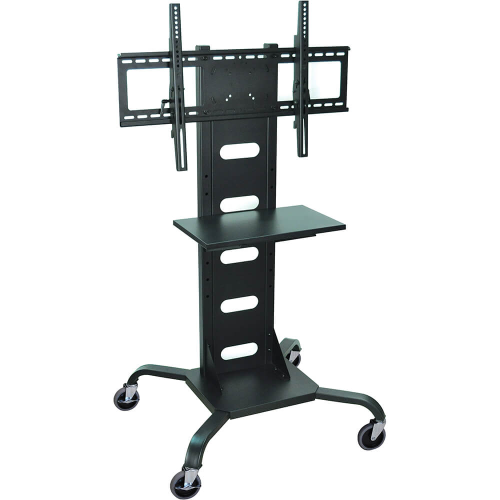Black, Mobile Flat Screen / LCD/ Plasma TV Stand With Shelf