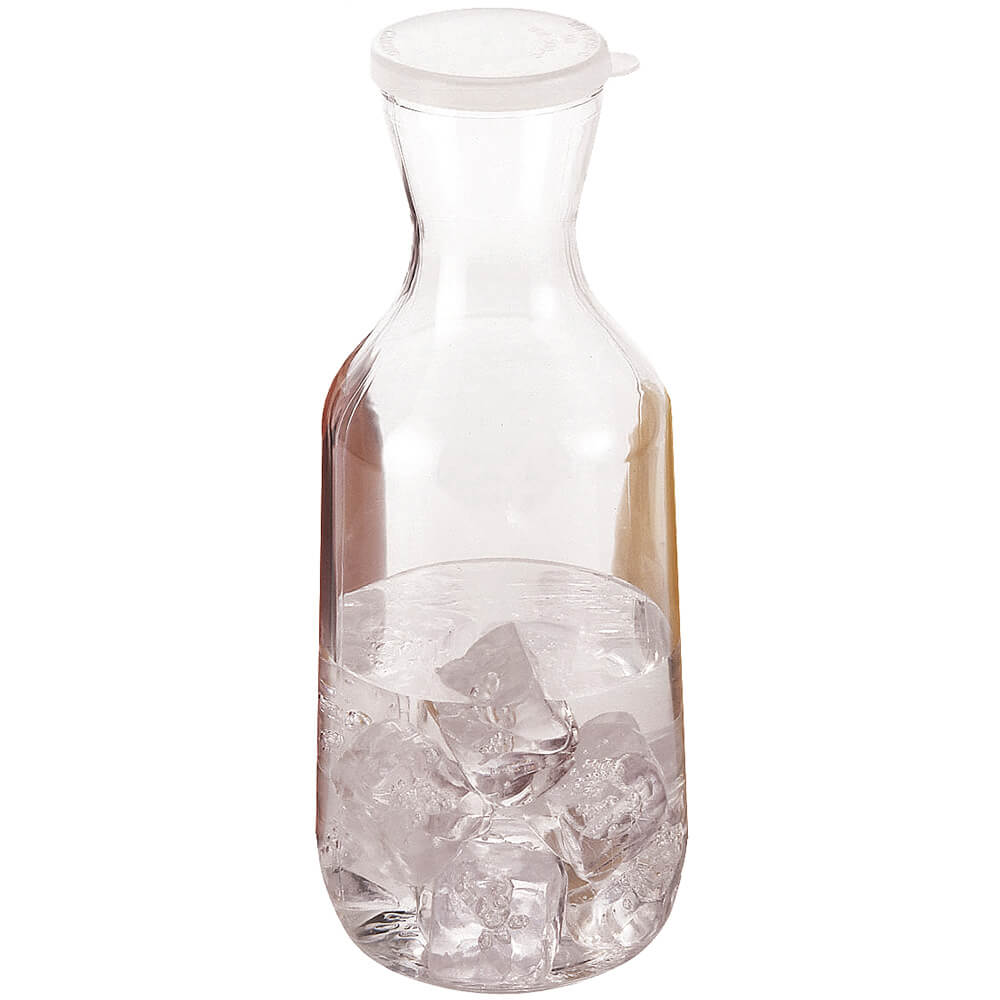 Clear, 1.5L Beverage Decanters with Lids, 12/PK
