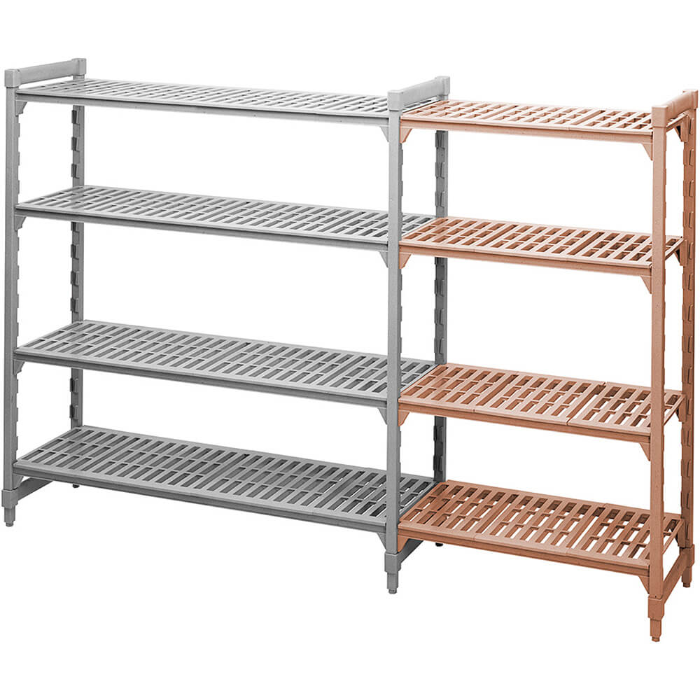 "Speckled Gray, Camshelving Add-on Unit, 48"" x 21"" x 72"", 4 Shelves View 2"