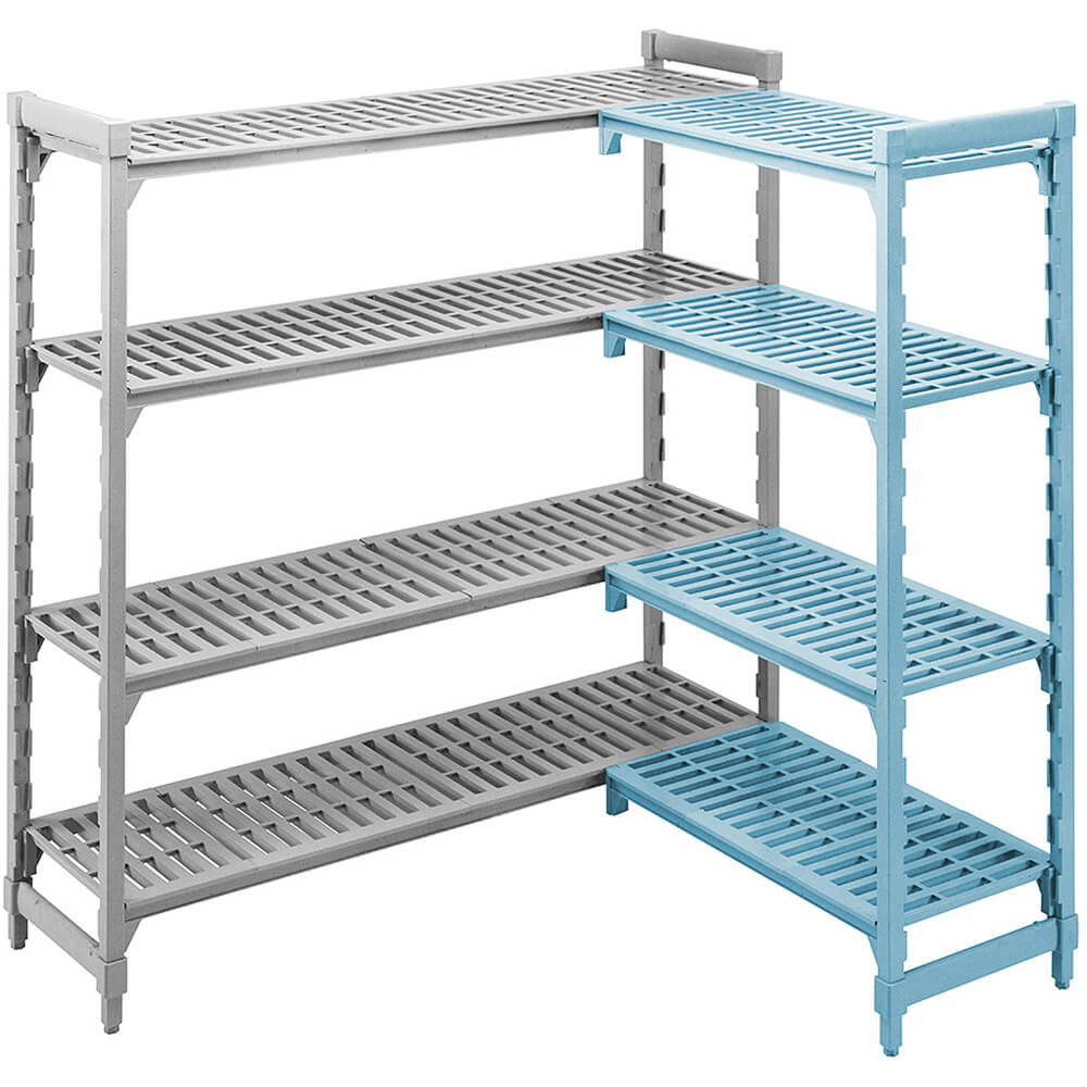 "Speckled Gray, Camshelving Add-on Unit, 60"" x 24"" x 64"", 4 Shelves View 3"