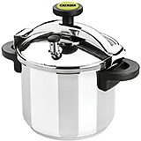 Stainless Steel, Pressure Cooker With Steamer Basket, Safety Valve, 8.5 Qt.
