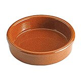 "Brown, Earthenware Creme Brulee Ramekins, 4.75"", 4/PK"